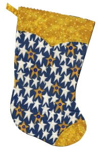 White/Gold/Blue Stars with Yellow Cuff & Toe