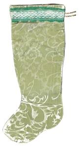 Seafoam Green Floral Textured Velvet